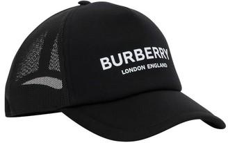 Burberry Logo Baseball Cap With Mesh Back
