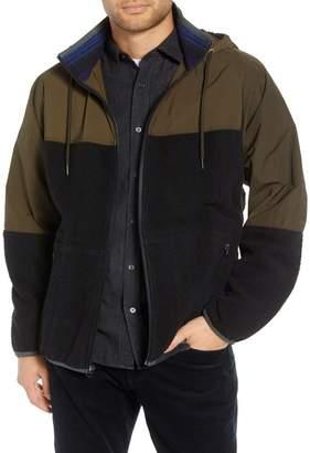 Vince Mixed Media Hooded Jacket