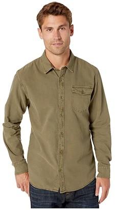 O'Neill Steaddy Long Sleeve Shirt (Army Green) Men's Clothing