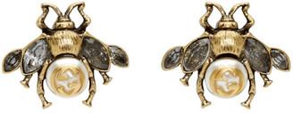 Gucci Gold Bee Motif Earrings