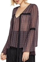 BCBGeneration Tie-Detail Bell Sleeve Blouse