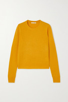 Reformation Cashmere And Wool-blend Sweater - Mustard