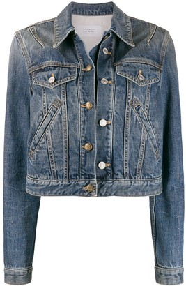 Givenchy cropped buttoned denim jacket