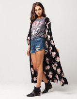 Angie Vintage Rose Womens Maxi Kimono