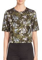 Erdem Juana Short Sleeve Top