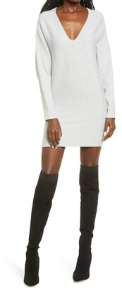 Leith Long Sleeve Dolman Sweater Minidress