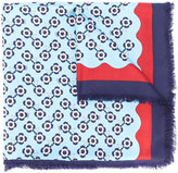 Fendi flower print scarf - women - Silk/Wool - One Size