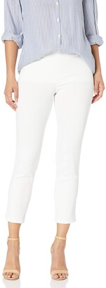 NYDJ Women's Petite Size Millie Pull On Ankle Jeans in Endless White Denim 4P