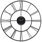 Infinity Instruments Modern Tower Round Wall Clock Black