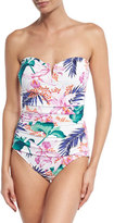 Tommy Bahama Orchid Canopy Bandeau One-Piece Swimsuit