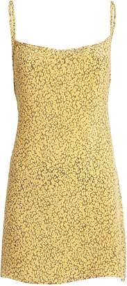 Anémone Leopard Tie-Back Mini Dress