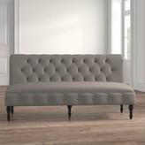 Ophelia Lauryn Chesterfield Settee & Co. Upholstery: Beige