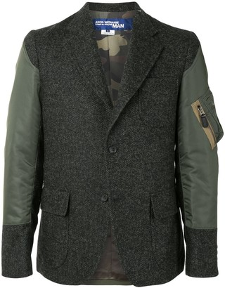 Junya Watanabe Single-Breasted Panelled Blazer
