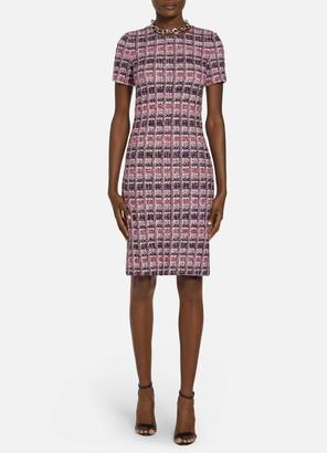St. John Monarch Textured Tweed Knit Dress
