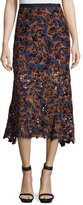 Saloni Bibi Guipure Lace Midi Skirt