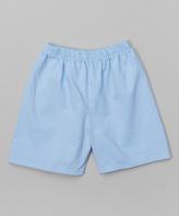 Flap Happy Lake Blue Brushed Twill Shorts - Boys