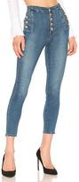 J Brand Natasha Sky High Skinny Cropped Jean.
