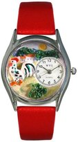 Whimsical Watches Women's S0110004 Rooster Red Leather Watch