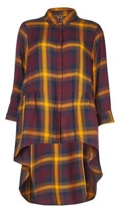 Dorothy Perkins Womens Only Orange Check Print Sleeve Shirt, Orange