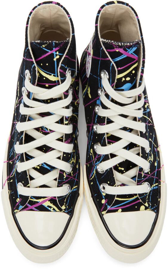 Thumbnail for your product : Converse Black Archive Paint Splatter Chuck 70 High Sneakers