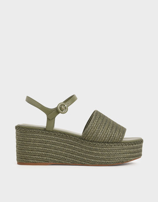 Charles & Keith Espadrille Platform Sandals