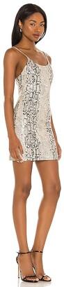 Alice + Olivia Nelle Vegan Leather Fitted Mini Dress