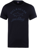 Paul & Shark Navy Crew Neck Print T-shirt