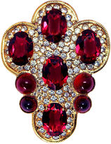 One Kings Lane Vintage William deLillo Large Jeweled Brooch