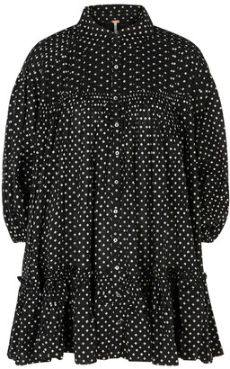 Free People Full Swing Printed Cotton Shirt Dress