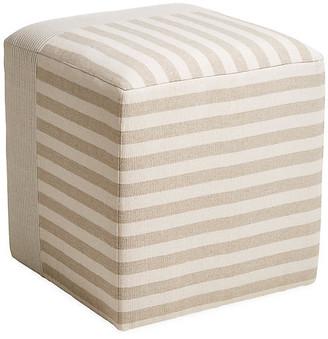 Imagine Home Azur Cube Ottoman - Beige/Cream