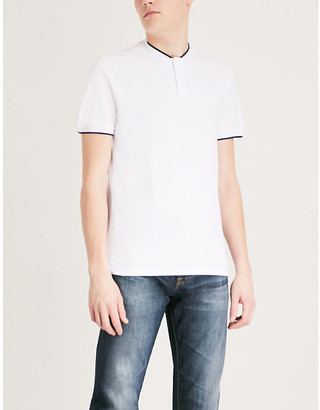 Sandro Contrast-trim cotton T-shirt