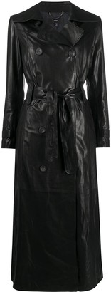 Arma Double-Breasted Leather Coat