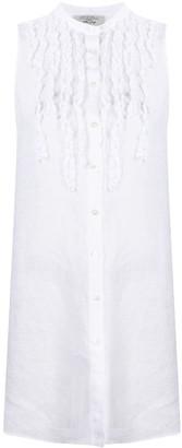Antonelli Sleeveless Ruffled Shirt