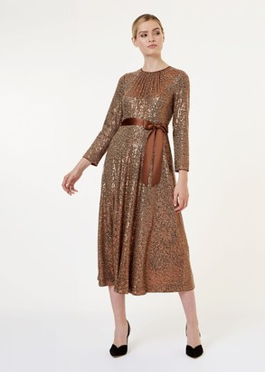 Hobbs Salma Sequin Fit And Flare Dress