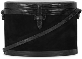 Hunting Season Trunk black lizard and suede box bag