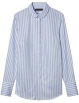 Banana Republic Riley-Fit Metallic Stripe Rounded-Collar Shirt