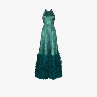 Maria Lucia Hohan Plisse Silk Maxi Dress