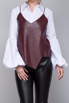 Do & Be Strappy Leather Top