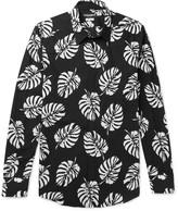Dolce & Gabbana - Slim-fit Printed Cotton-poplin Shirt