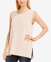 Vince Camuto Two by Cotton Sleeveless Ribbed Sweater