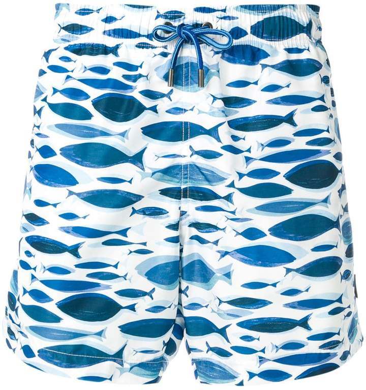 2b49ad7b fish pattern swim shorts