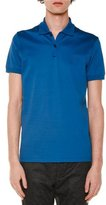 Lanvin Embroidered-Logo Short-Sleeve Polo Shirt, Blue