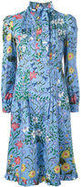 Gucci New Flora ruffle trim dress - women - Cotton - 38