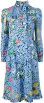 Gucci New Flora ruffle trim dress