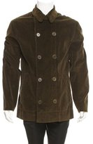 John Varvatos Corduroy Double-Breasted Coat