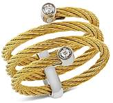 Alor Diamond Yellow Cable Ring