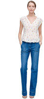 Rebecca Taylor Sleeveless Mini Meadow Floral Top