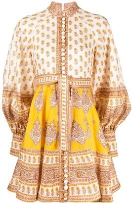 Zimmermann Contrast Print Smock Dress