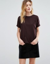 NATIVE YOUTH Brushed Plaid Top