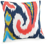 Trina Turk Hollyhock Ikat Abstract Paisley Printed Throw Pillow